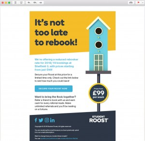 Student Roost Email Campaign Design