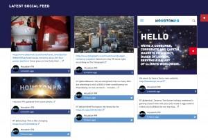 Houston PR Website Design and Build - Social Media Feed