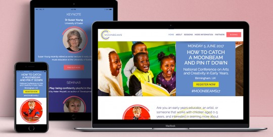 Moonbeams Website Design