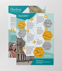 Hudson Recruitment Leaflet Design