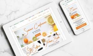 Tropic Skin Care Ambassador Registration Website Design