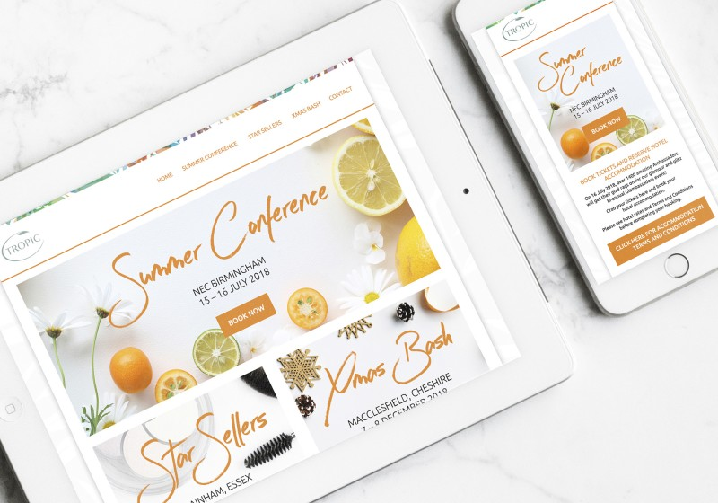 Tropic Skin Care Ambassador Registration Website Design